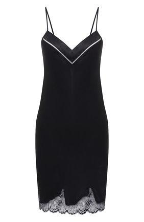 Женская шелковая сорочка SIMONEPERELE черного цвета, арт. 17F940 | Фото 1