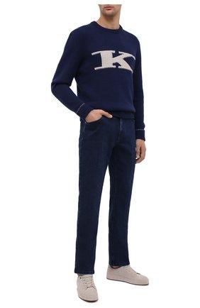 Мужские джинсы ZILLI синего цвета, арт. MCU-00060-SSBL1/R001 | Фото 2