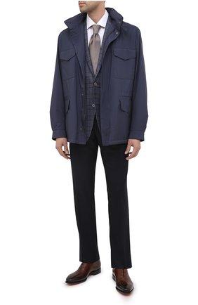 Мужской шерстяной пиджак CORNELIANI синего цвета, арт. 866Y70-0816372/90 Z   Фото 2