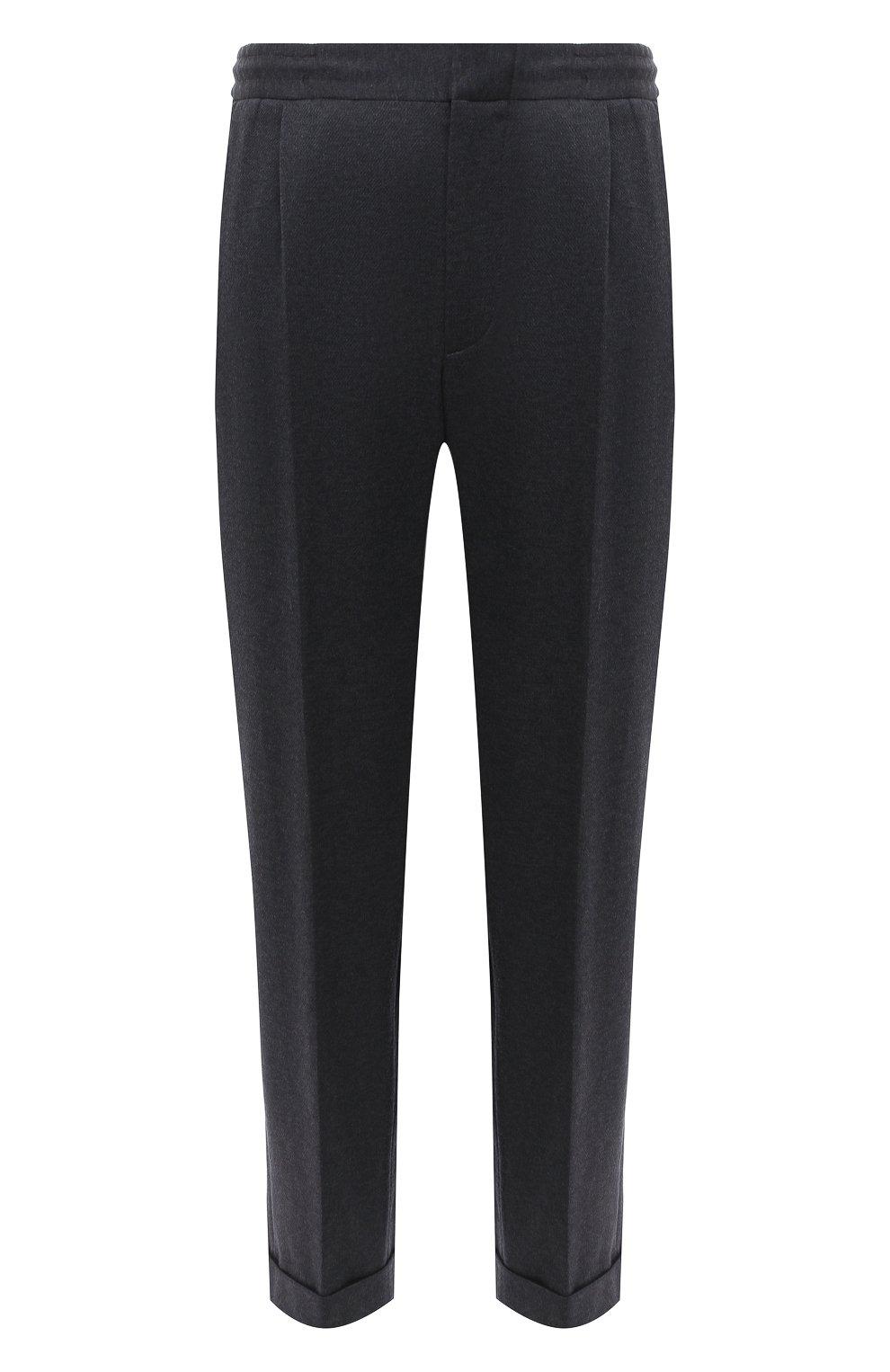 Мужские хлопковые брюки KNT серого цвета, арт. UPS0102J02T31 | Фото 1 (Длина (брюки, джинсы): Стандартные; Случай: Повседневный; Материал внешний: Хлопок; Стили: Кэжуэл)