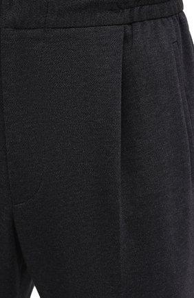 Мужские хлопковые брюки KNT серого цвета, арт. UPS0102J02T31 | Фото 5 (Длина (брюки, джинсы): Стандартные; Случай: Повседневный; Материал внешний: Хлопок; Стили: Кэжуэл)