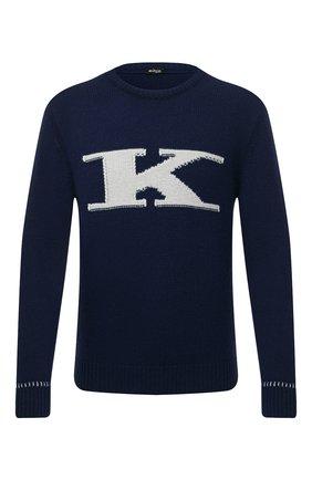 Мужской кашемировый свитер KITON синего цвета, арт. UK1226   Фото 1