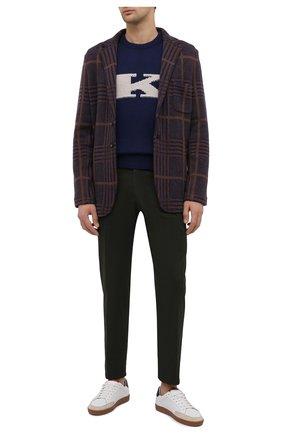 Мужской кашемировый свитер KITON синего цвета, арт. UK1226   Фото 2