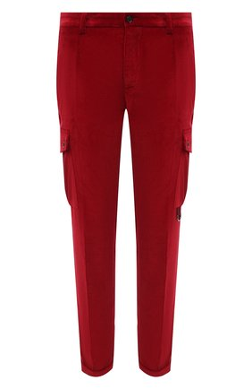 Мужской хлопковые брюки-карго DOLCE & GABBANA красного цвета, арт. GWQ1ET/FUVK5 | Фото 1
