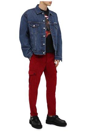 Мужской хлопковые брюки-карго DOLCE & GABBANA красного цвета, арт. GWQ1ET/FUVK5 | Фото 2