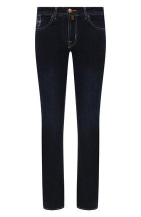 Мужские джинсы JACOB COHEN темно-синего цвета, арт. J620 C0MF 00709-W1/54 | Фото 1