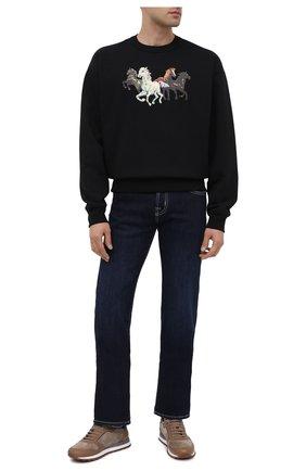 Мужские джинсы JACOB COHEN темно-синего цвета, арт. J620 C0MF 00709-W1/54 | Фото 2