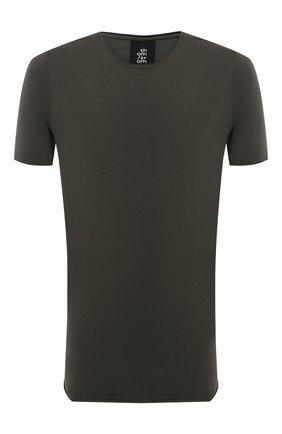 Мужская хлопковая футболка THOM KROM темно-зеленого цвета, арт. M TS 524 | Фото 1