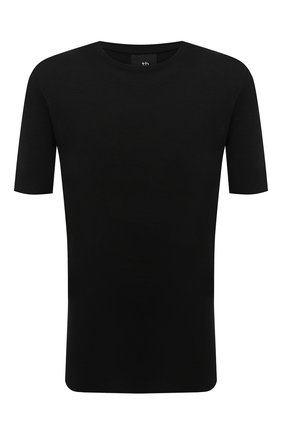 Мужская футболка из вискозы и шелка THOM KROM черного цвета, арт. M TS 446 | Фото 1
