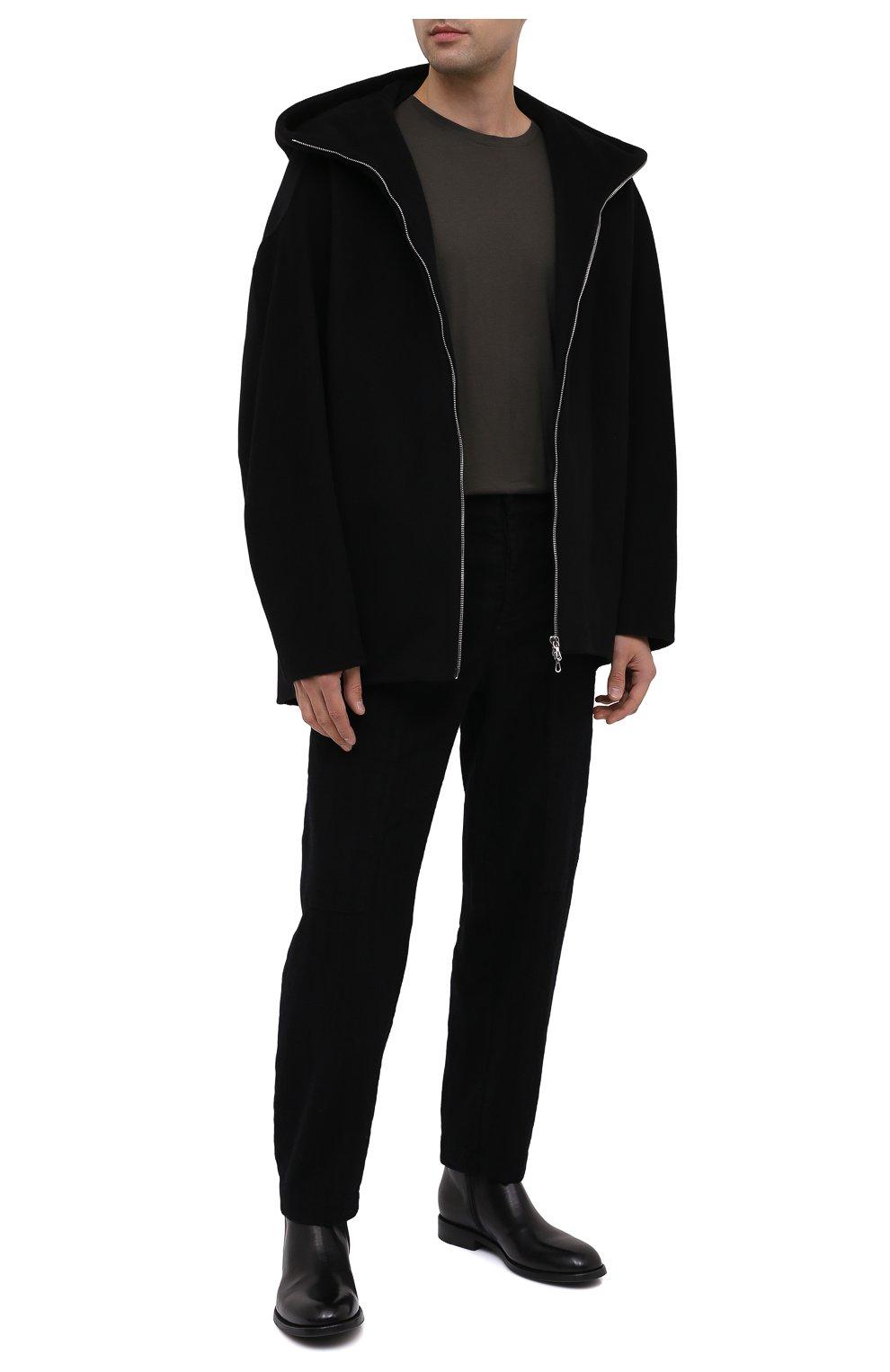 Мужские кожаные сапоги PANTANETTI черного цвета, арт. 14020E | Фото 2
