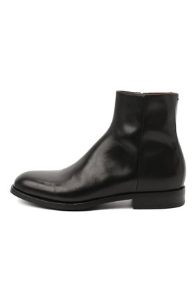 Мужские кожаные сапоги PANTANETTI черного цвета, арт. 14020E | Фото 3