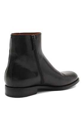 Мужские кожаные сапоги PANTANETTI черного цвета, арт. 14020E | Фото 4