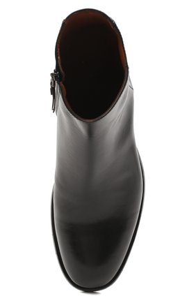 Мужские кожаные сапоги PANTANETTI черного цвета, арт. 14020E | Фото 5