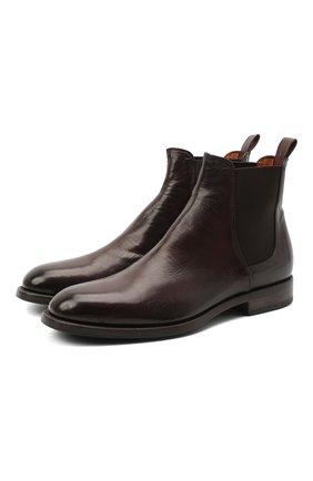 Мужские кожаные челси PANTANETTI коричневого цвета, арт. 14021C   Фото 1