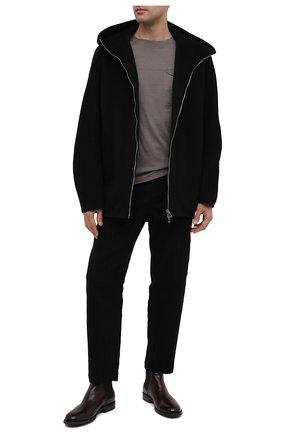 Мужские кожаные челси PANTANETTI коричневого цвета, арт. 14021C   Фото 2