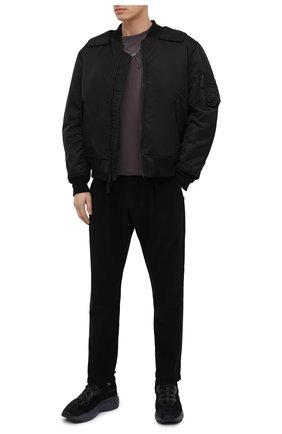 Мужской утепленный бомбер KAZUYUKI KUMAGAI черного цвета, арт. AB03-204   Фото 2