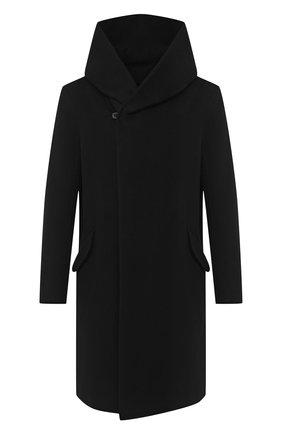 Мужской пальто из шерсти и кашемира KAZUYUKI KUMAGAI черного цвета, арт. AC03-202   Фото 1