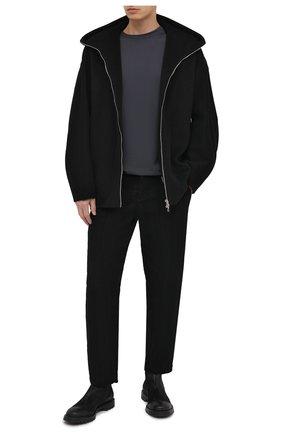 Мужская куртка из шерсти и кашемира KAZUYUKI KUMAGAI черного цвета, арт. AC03-223   Фото 2