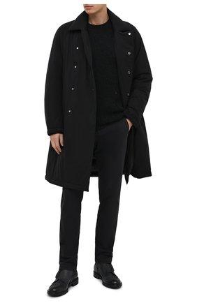 Мужская пуховое пальто KAZUYUKI KUMAGAI черного цвета, арт. AC03-245   Фото 2