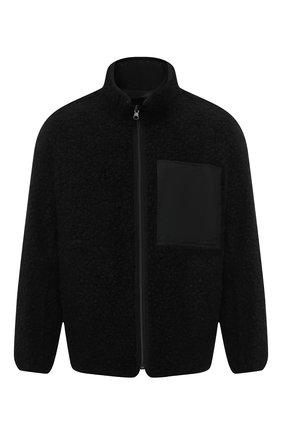 Мужская двусторонняя куртка из шерсти и хлопка KAZUYUKI KUMAGAI черного цвета, арт. KB03-028   Фото 1