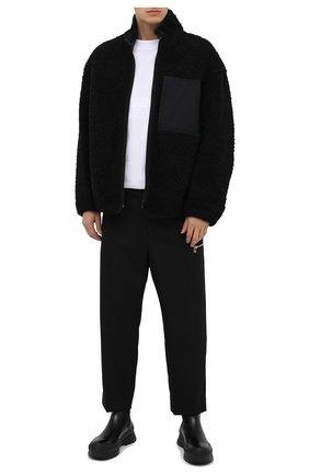 Мужская двусторонняя куртка из шерсти и хлопка KAZUYUKI KUMAGAI черного цвета, арт. KB03-028   Фото 2