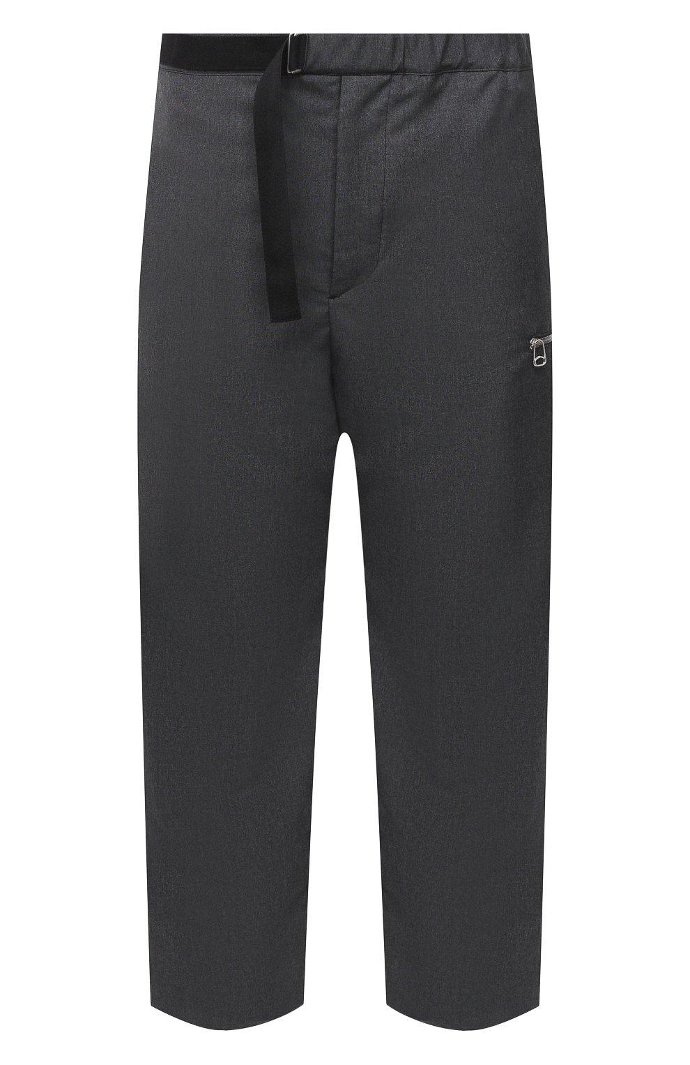 Мужские шерстяные брюки OAMC темно-серого цвета, арт. 0AMR311133 0R200100   Фото 1