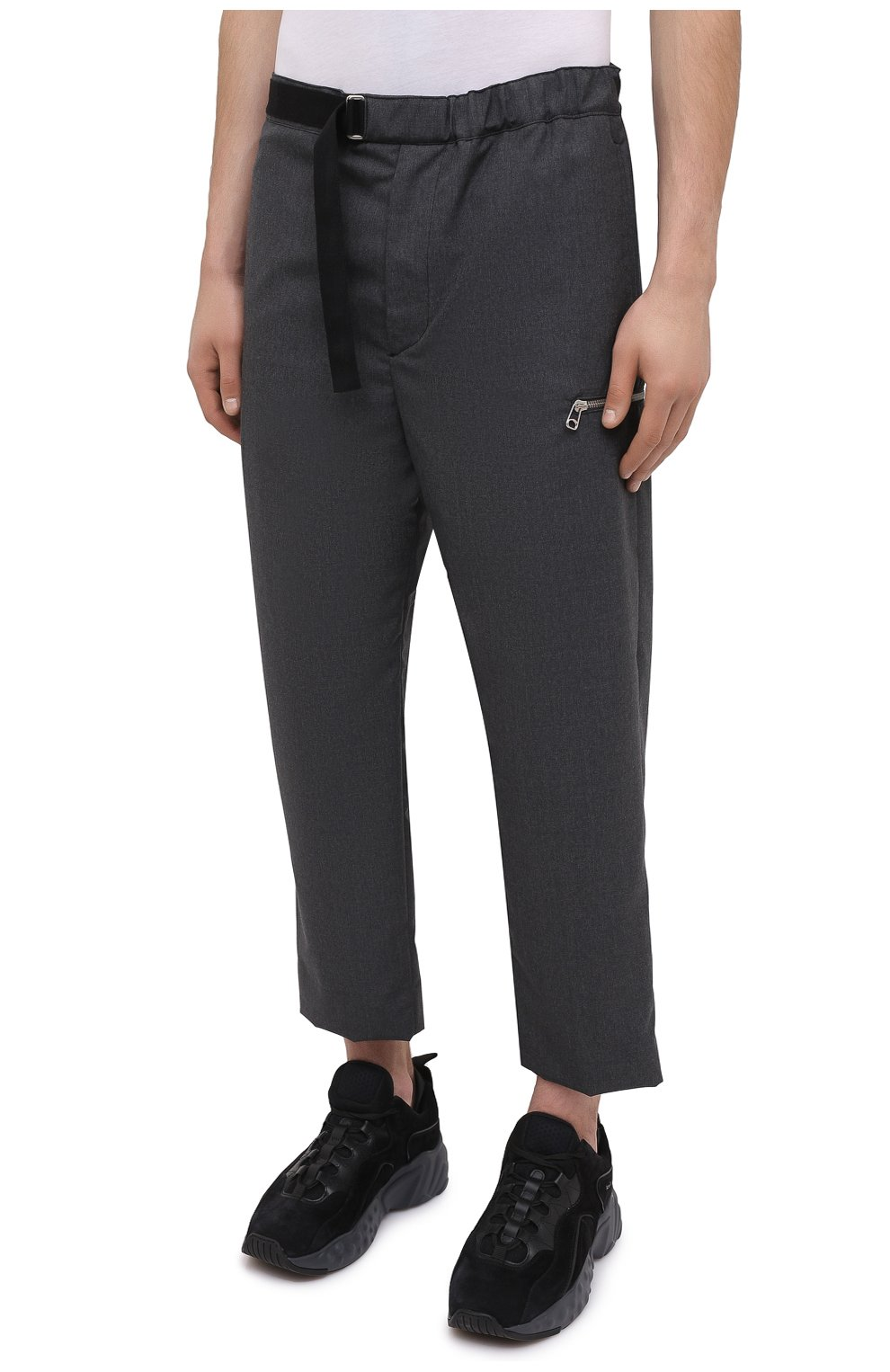 Мужские шерстяные брюки OAMC темно-серого цвета, арт. 0AMR311133 0R200100   Фото 3