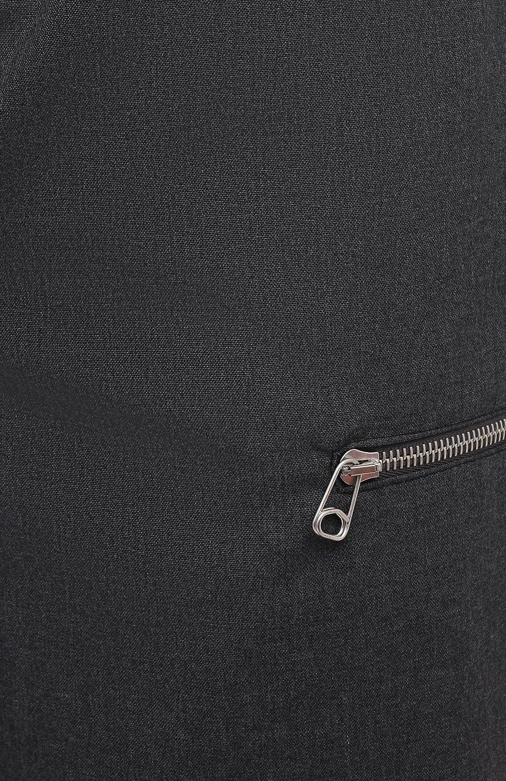 Мужские шерстяные брюки OAMC темно-серого цвета, арт. 0AMR311133 0R200100   Фото 5