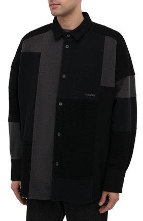 Мужская рубашка AMBUSH темно-серого цвета, арт. BMGA007F20FAB001 | Фото 3
