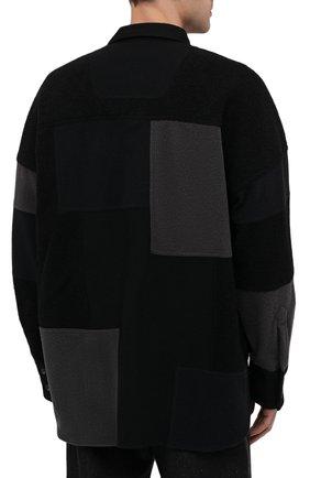 Мужская рубашка AMBUSH темно-серого цвета, арт. BMGA007F20FAB001 | Фото 4