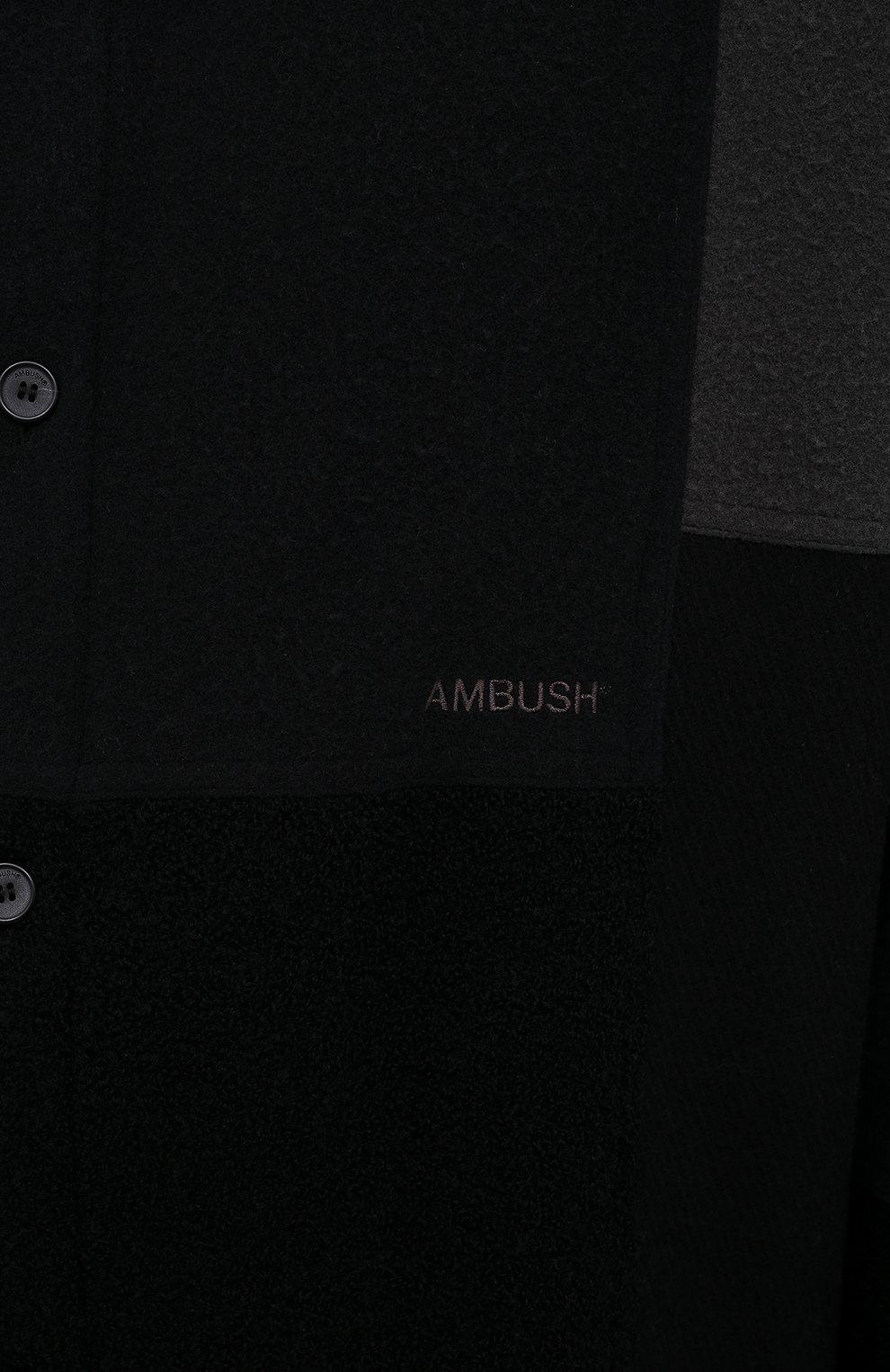 Мужская рубашка AMBUSH темно-серого цвета, арт. BMGA007F20FAB001 | Фото 5