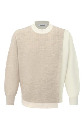 Мужской свитер AMBUSH бежевого цвета, арт. BMHE001F20KNI001 | Фото 1