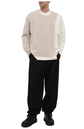 Мужской свитер AMBUSH бежевого цвета, арт. BMHE001F20KNI001 | Фото 2