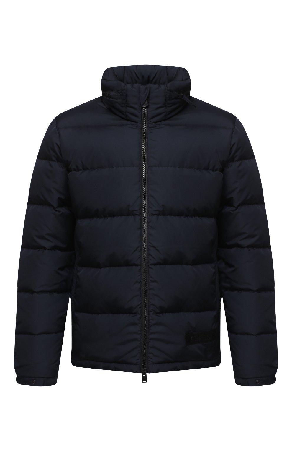 Мужская пуховая куртка ASPESI темно-синего цвета, арт. W0 I I018 7954 | Фото 1 (Кросс-КТ: Куртка, Пуховик; Мужское Кросс-КТ: пуховик-короткий, Пуховик-верхняя одежда, Верхняя одежда; Рукава: Длинные; Материал внешний: Синтетический материал; Материал подклада: Синтетический материал; Длина (верхняя одежда): Короткие; Стили: Кэжуэл)