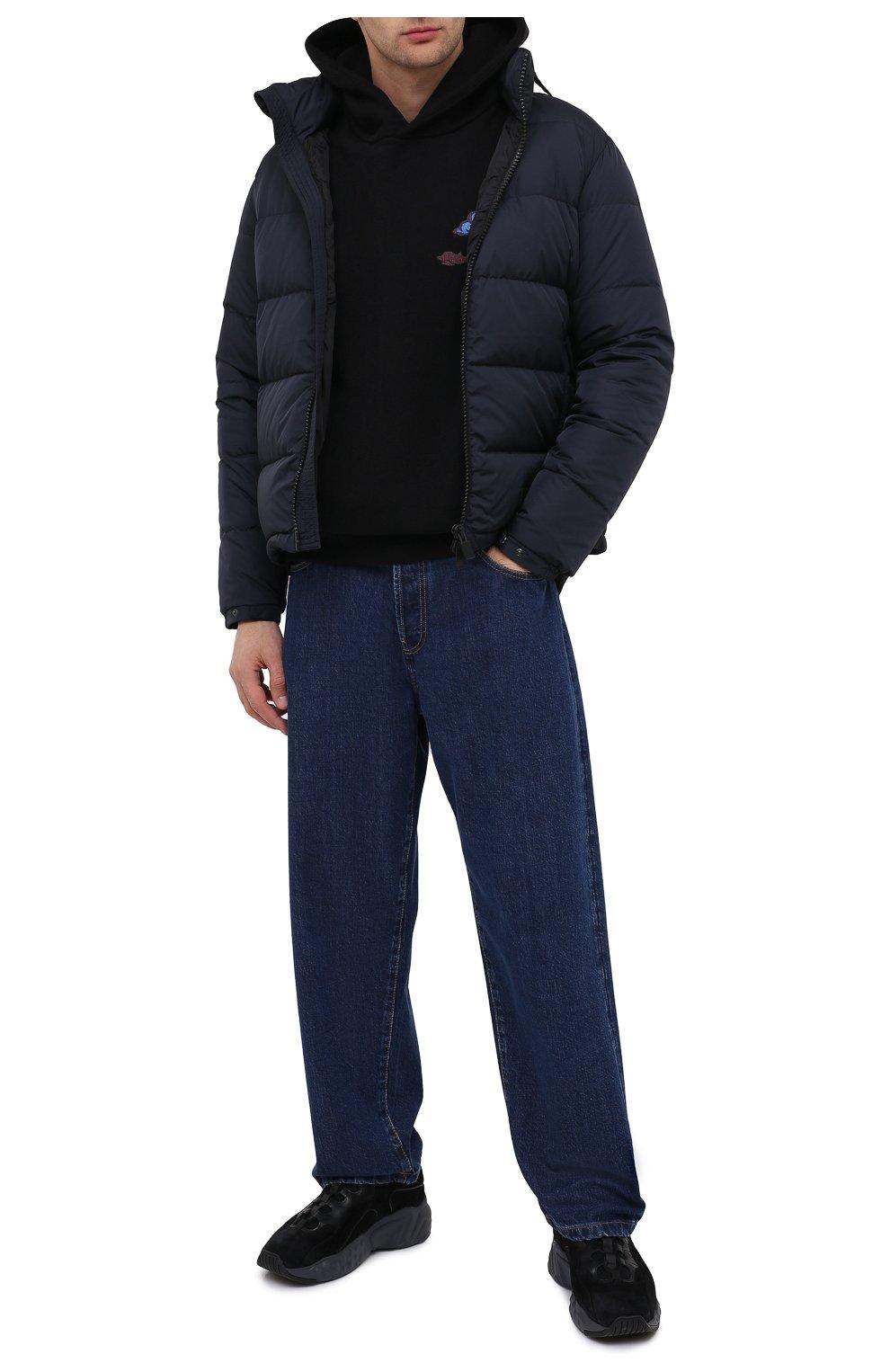 Мужская пуховая куртка ASPESI темно-синего цвета, арт. W0 I I018 7954 | Фото 2 (Кросс-КТ: Куртка, Пуховик; Мужское Кросс-КТ: пуховик-короткий, Пуховик-верхняя одежда, Верхняя одежда; Рукава: Длинные; Материал внешний: Синтетический материал; Материал подклада: Синтетический материал; Длина (верхняя одежда): Короткие; Стили: Кэжуэл)
