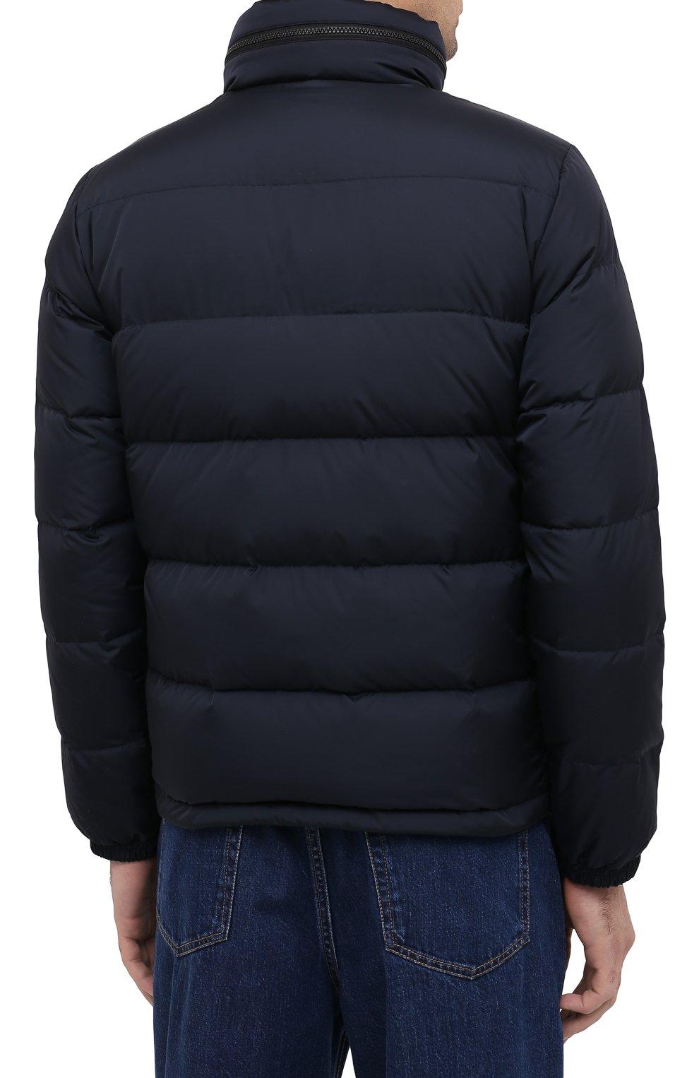 Мужская пуховая куртка ASPESI темно-синего цвета, арт. W0 I I018 7954 | Фото 4 (Кросс-КТ: Куртка, Пуховик; Мужское Кросс-КТ: пуховик-короткий, Пуховик-верхняя одежда, Верхняя одежда; Рукава: Длинные; Материал внешний: Синтетический материал; Материал подклада: Синтетический материал; Длина (верхняя одежда): Короткие; Стили: Кэжуэл)