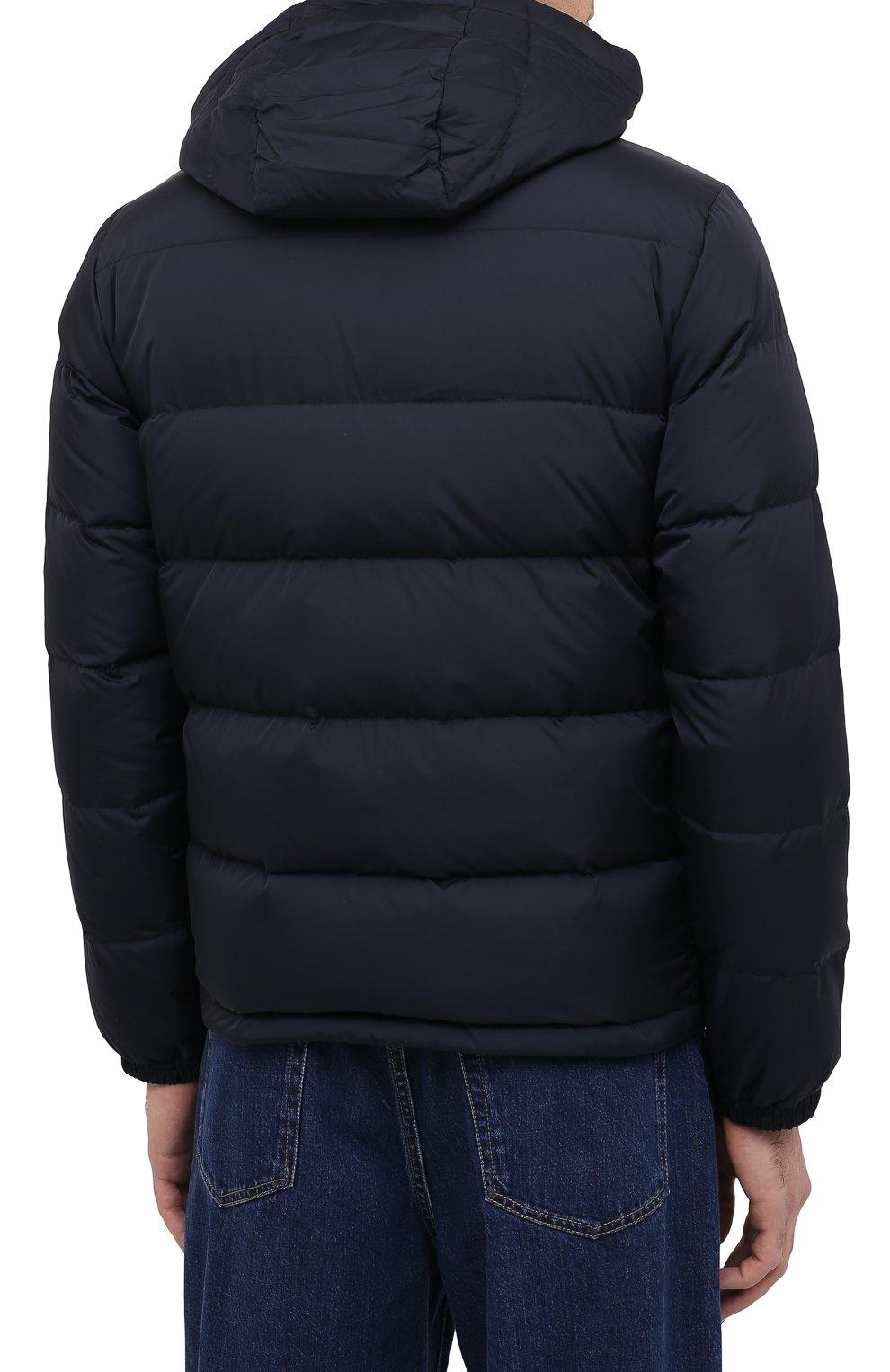 Мужская пуховая куртка ASPESI темно-синего цвета, арт. W0 I I018 7954 | Фото 6 (Кросс-КТ: Куртка, Пуховик; Мужское Кросс-КТ: пуховик-короткий, Пуховик-верхняя одежда, Верхняя одежда; Рукава: Длинные; Материал внешний: Синтетический материал; Материал подклада: Синтетический материал; Длина (верхняя одежда): Короткие; Стили: Кэжуэл)