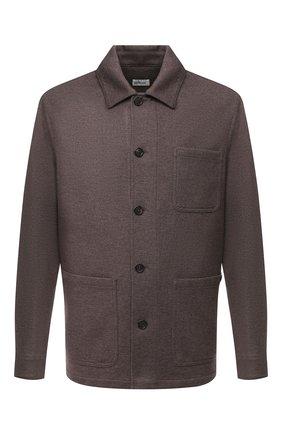 Мужская куртка из кашемира и шерсти BRIONI коричневого цвета, арт. UJFM0L/09616 | Фото 1 (Материал внешний: Шерсть; Рукава: Длинные; Мужское Кросс-КТ: Верхняя одежда, Куртка-верхняя одежда, шерсть и кашемир; Стили: Кэжуэл; Кросс-КТ: Куртка)