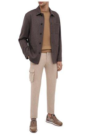 Мужская куртка из кашемира и шерсти BRIONI коричневого цвета, арт. UJFM0L/09616 | Фото 2 (Материал внешний: Шерсть; Рукава: Длинные; Мужское Кросс-КТ: Верхняя одежда, Куртка-верхняя одежда, шерсть и кашемир; Стили: Кэжуэл; Кросс-КТ: Куртка)