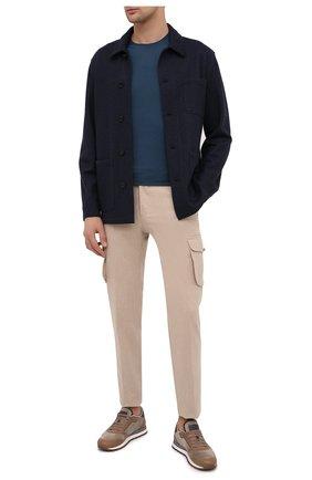 Мужская куртка из кашемира и шерсти BRIONI темно-синего цвета, арт. UJFM0L/09616 | Фото 2 (Материал внешний: Шерсть; Рукава: Длинные; Мужское Кросс-КТ: Верхняя одежда, Куртка-верхняя одежда, шерсть и кашемир; Стили: Кэжуэл; Кросс-КТ: Куртка)