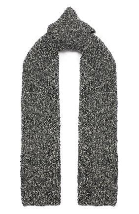 Мужской шерстяной шарф DOLCE & GABBANA серого цвета, арт. GXC78T/JAM9I | Фото 1