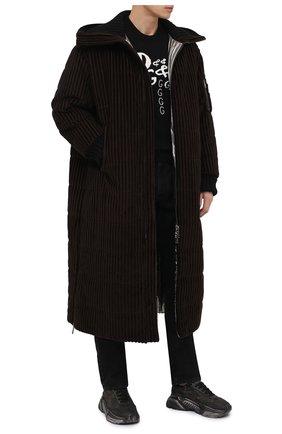 Мужская утепленное пальто DOLCE & GABBANA коричневого цвета, арт. G9TV5T/FRVBA | Фото 2