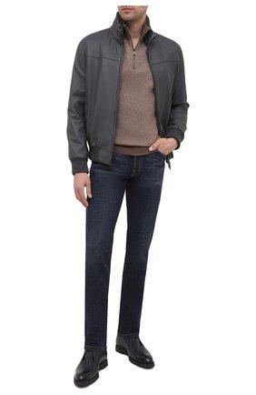 Мужские джинсы BRIONI темно-синего цвета, арт. SPLU0L/P9D38/MERIBEL   Фото 2
