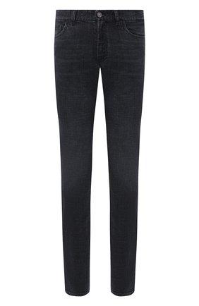 Мужские джинсы BRIONI черного цвета, арт. SPLU0L/P9D12/MERIBEL | Фото 1