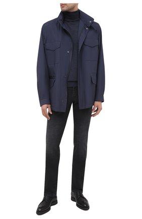 Мужские джинсы BRIONI черного цвета, арт. SPLU0L/P9D12/MERIBEL | Фото 2