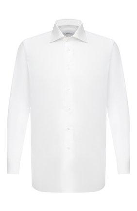 Мужская хлопковая сорочка BRIONI белого цвета, арт. RCB20M/PZ005 | Фото 1