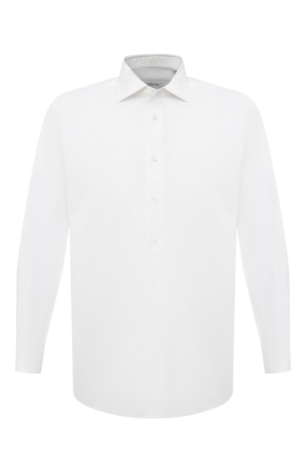 Мужская хлопковая сорочка BRIONI белого цвета, арт. RCB20L/PZ001 | Фото 1