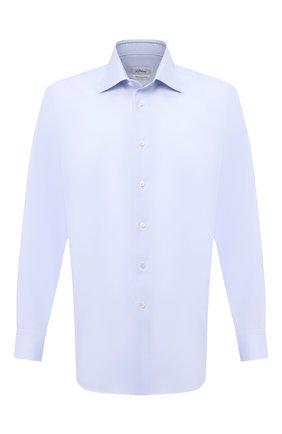 Мужская хлопковая сорочка BRIONI голубого цвета, арт. RCB10M/P7003 | Фото 1