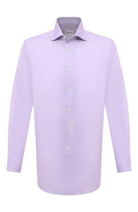 Мужская хлопковая сорочка BRIONI сиреневого цвета, арт. RCB10M/P7003 | Фото 1