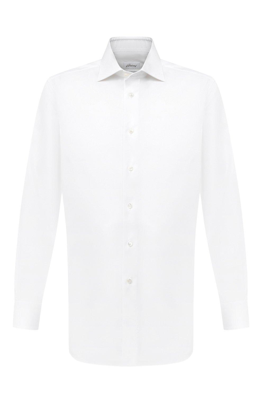 Мужская хлопковая сорочка BRIONI белого цвета, арт. RCB10M/P7003 | Фото 1